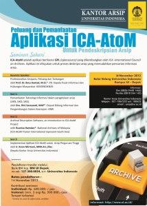 Seminar Sehari Kearsipan: Peluang dan Pemanfaatan Aplikasi Opensource ICA-AtoM untuk Pendeskripsian Arsip