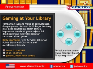 "Free Library Seminar ""Gaming in the Library"""