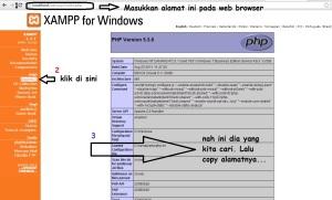 mencari php.ini
