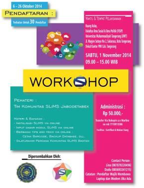 Workshop santai online slims