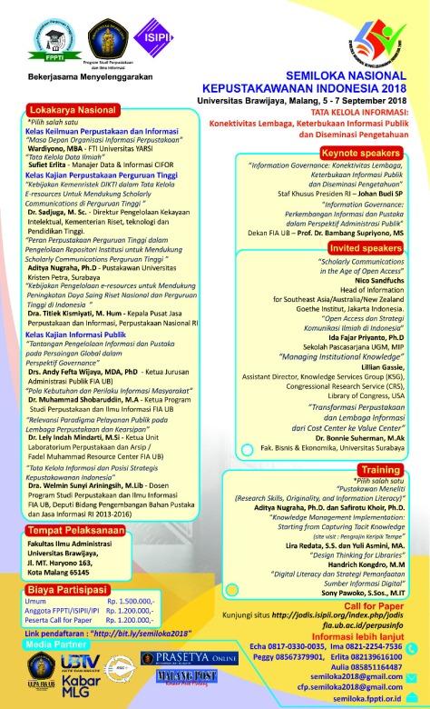 pinustaka poster seminar nasional kepustakawanan 2018
